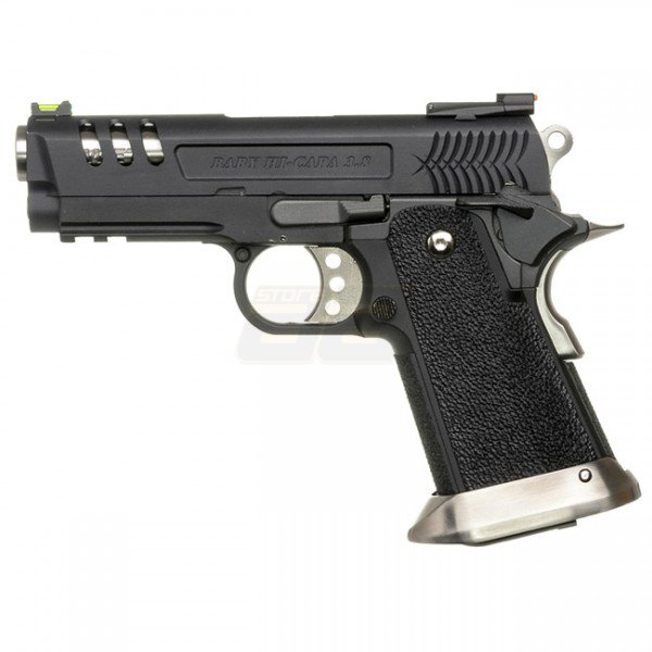 WE Hi-Capa 3.8 Deinonychus Gas Blowback Pistol - Black