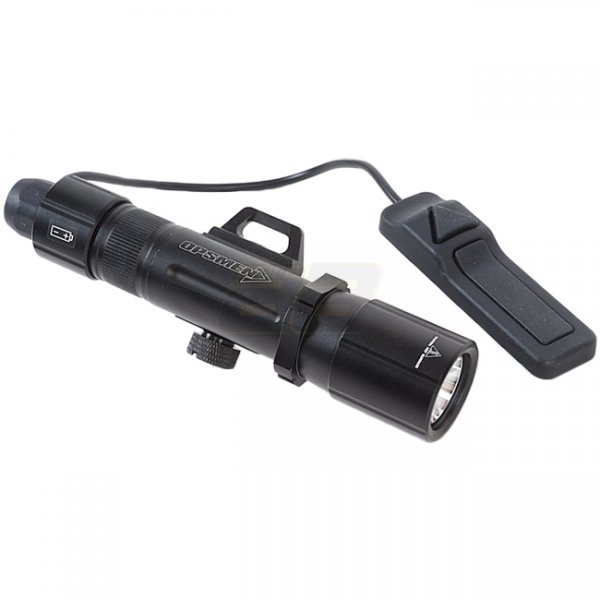 Opsmen FAST 501R High-Output Picatinny Rail Flashlight 1000 Lumen - Black