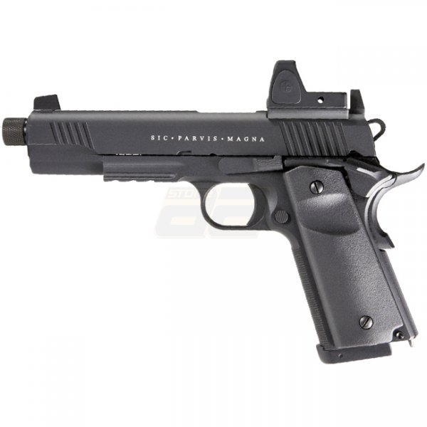 Secutor Rudis Magna XII Co2 Blow Back Pistol - Black