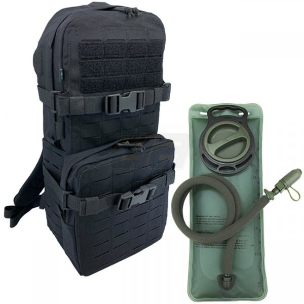 Pitchfork Medium Cargo & Hydration Pack 2.5L Combo - Black
