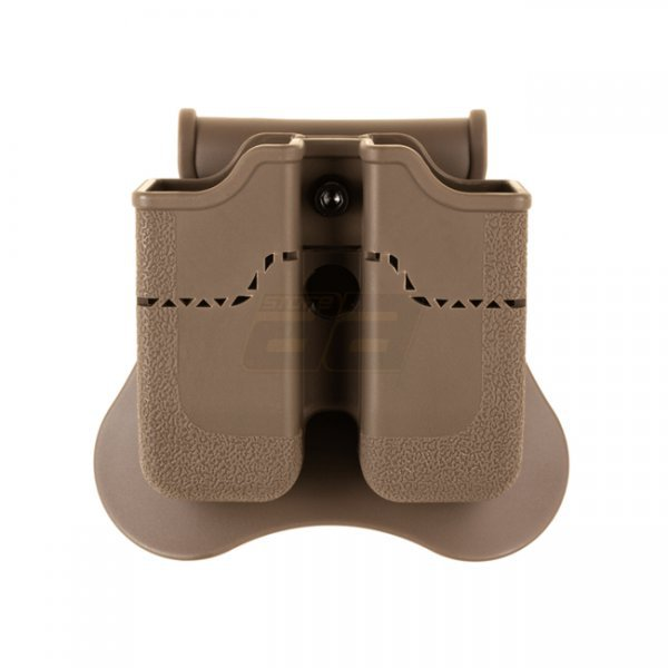 Amomax Px4 / P30 / USP / USP Compact Double Magazine Pouch - Dark Earth