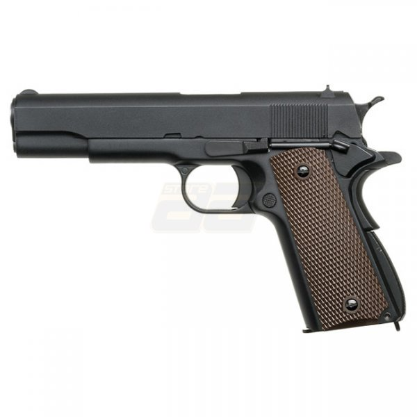 WE M1911 Co2 Blow Back Pistol - Black
