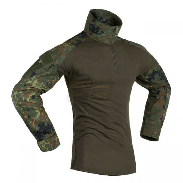 Invader Gear Combat Shirt - Flecktarn - M