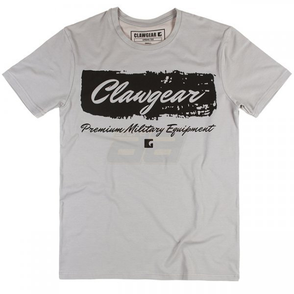Clawgear Handwritten Tee - Light Grey - S