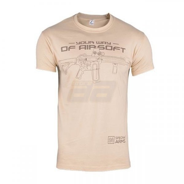 Specna Arms Shirt - Your Way of Airsoft 02 - Tan - S