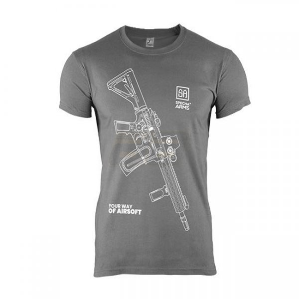 Specna Arms Shirt - Your Way of Airsoft 01 - Grey/White - S