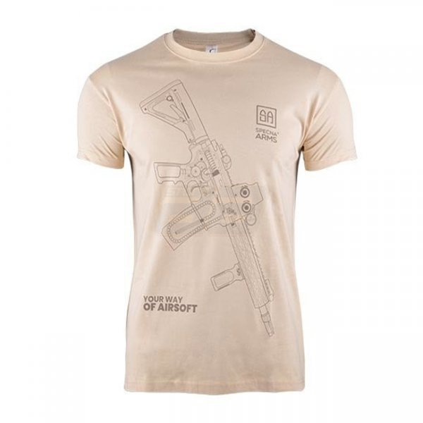 Specna Arms Shirt - Your Way of Airsoft 01 - Tan - L