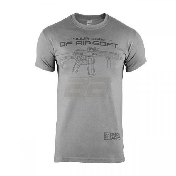 Specna Arms Shirt - Your Way of Airsoft 02 - Grey/Black - M
