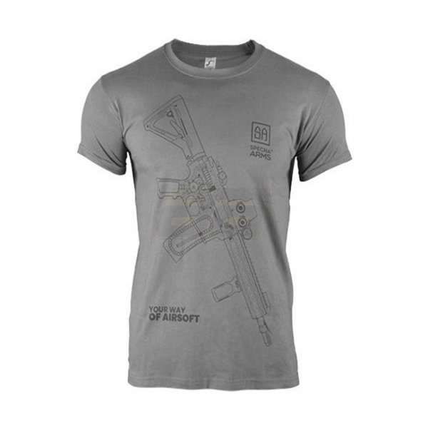 Specna Arms Shirt - Your Way of Airsoft 01 - Grey/Black - 2XL