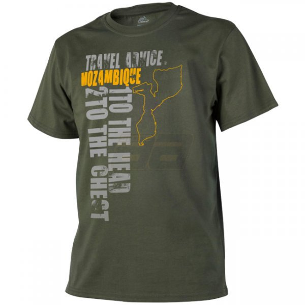 Helikon T-Shirt Travel Advice: Mozambique - Olive Green - 2XL