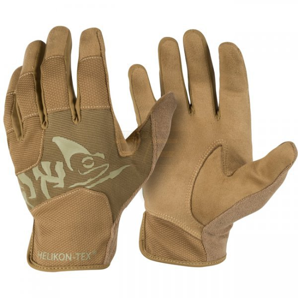 Helikon All Round Fit Tactical Gloves - Coyote / Adaptive Green A - S