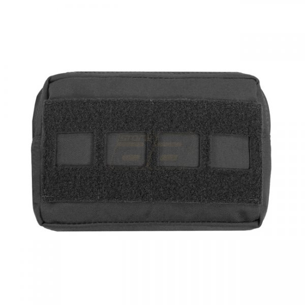 Warrior Laser Cut Small Horizontal Utility Pouch - Black
