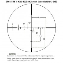 VORTEX Crossfire II 3-9x50 Riflescope Dead-Hold BDC Reticle - MOA 5