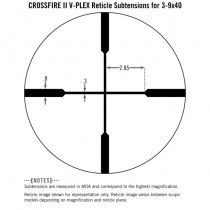 VORTEX Crossfire ll 3-9x40 Riflescope V-Plex Reticle - MOA 5