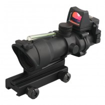 Advanced 4x32 Green Illuminated Scope & RM Reddot - Black