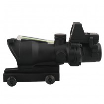 Advanced 4x32 Green Illuminated Scope & RM Reddot - Black 1
