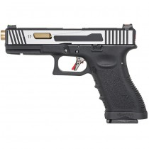 WE G17 Hi-Speed Gas Blowback Pistol - 2-Tone