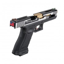 WE G17 Hi-Speed Gas Blowback Pistol - 2-Tone 4