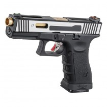 WE G17 Hi-Speed Gas Blowback Pistol - 2-Tone 5