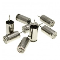 Lucky Shot 9mm Ammunition Push Pins - Nickel