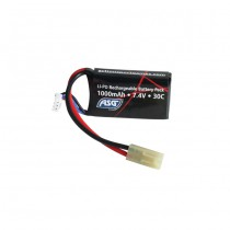 ASG 7.4V 1000mAh Li-Po 30C Battery - Block Type