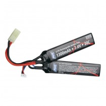 ASG 7.4V 1300mAh Li-Po 25C Battery - Twin Type