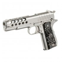 WE 1911 HEX Cut Gas Blow Back Pistol - Silver