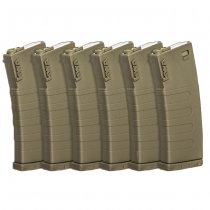 KWA M4 120BBs Polymer Magazine Set - Dark Earth