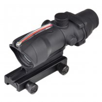 Aim-O ACOG 1x32C Illumination Fiber Optic Red Dot Sight - Black