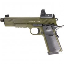 Secutor Rudis Magna XII Co2 Blow Back Pistol - Olive