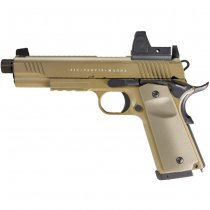 Secutor Rudis Magna XII Co2 Blow Back Pistol - Tan