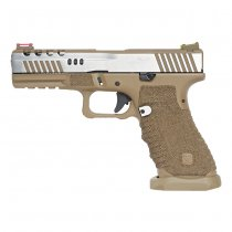 APS Dragonfly D-Mod Co2 Blow Back Pistol - 2-Tone Desert