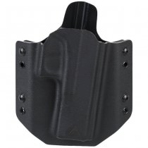 Direct Action G17 OWB Zero Cant No Light Holster Full Kydex - Black