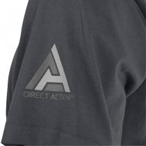 Direct Action T-Shirt Logo D.A. PL Flag 1 - Shadow Grey 2XL