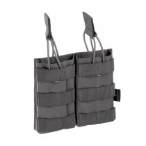 Invader Gear 5.56 Double Direct Action Mag Pouch - Wolf Grey