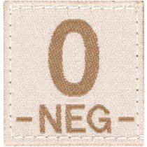 Clawgear 0 Neg Bloodgroup Patch - Desert
