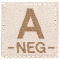 Clawgear A Neg Bloodgroup Patch - Desert