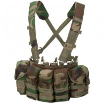 Helikon Guardian Chest Rig - Woodland Camo