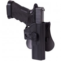 Helikon Glock 17 Release Button Holster & Paddle - Black
