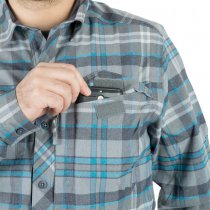 Helikon Defender Mk2 Pilgrim Shirt - Blue-Plaid - XS