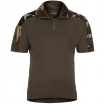 Invader Gear Combat Shirt Short Sleeve - Woodland - XL
