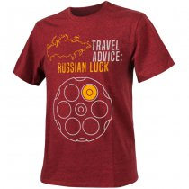 Helikon T-Shirt Travel Advice: Russian Luck - Melange Red - L