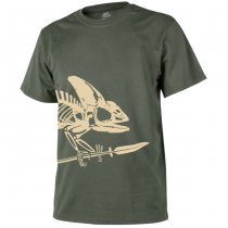 Helikon T-Shirt Full Body Skeleton - Olive Green - M