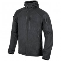 Helikon Alpha Hoodie Grid Fleece Jacket - Black