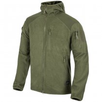 Helikon Alpha Hoodie Grid Fleece Jacket - Olive Green
