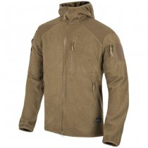 Helikon Alpha Hoodie Grid Fleece Jacket - Coyote