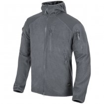Helikon Alpha Hoodie Grid Fleece Jacket - Shadow Grey