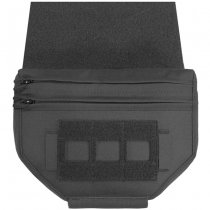 Warrior Laser Cut Drop Down Velcro Utility Pouch - Black