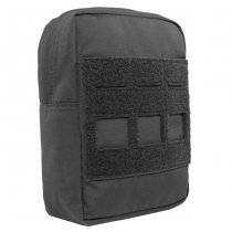 Warrior Laser Cut Small Vertical Utility Pouch - Black